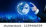 global network connection... | Shutterstock . vector #1159446559