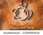 2019 happy new year background... | Shutterstock .eps vector #1159450516