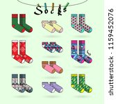 set of socks with different...   Shutterstock .eps vector #1159452076