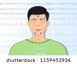 sleep study test apnea | Shutterstock .eps vector #1159453936