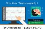 sleep study test apnea | Shutterstock .eps vector #1159454140