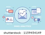 email campaign concept  message ... | Shutterstock .eps vector #1159454149