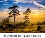 leith hill sunset surrey | Shutterstock . vector #1159455709