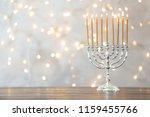 Hanukkah Menorah With Candles...