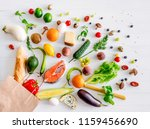 healthy organic nutritious diet.... | Shutterstock . vector #1159456690