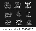 back to school set label.... | Shutterstock .eps vector #1159458190