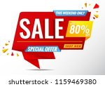 sale banner special offer 80 ... | Shutterstock .eps vector #1159469380