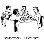 couples dining   retro clipart... | Shutterstock .eps vector #115947094