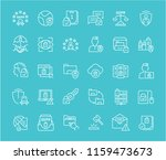 collection of line white icons... | Shutterstock .eps vector #1159473673