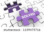 mystery solved clues... | Shutterstock . vector #1159475716