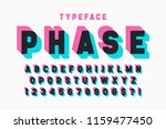 glitched display font design ... | Shutterstock .eps vector #1159477450