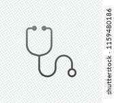 simple stethoscope icon. linear ... | Shutterstock .eps vector #1159480186