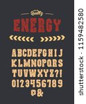 hand made letterpress font in...   Shutterstock .eps vector #1159482580