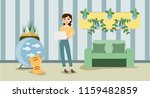 growing indoor plants and...   Shutterstock .eps vector #1159482859