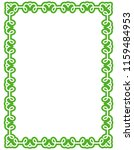 green simple line border frame... | Shutterstock .eps vector #1159484953