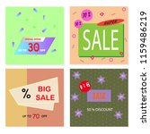 memphis style sale cards with... | Shutterstock .eps vector #1159486219