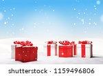 christmas gifts 3d illustration | Shutterstock . vector #1159496806
