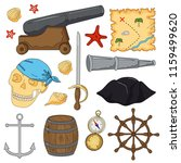 set of elements for a pirate... | Shutterstock .eps vector #1159499620