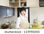 women  kitchen   Shutterstock . vector #115950343