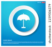 umbrella icon abstract blue web ...