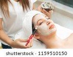 beautiful woman having a facial ... | Shutterstock . vector #1159510150