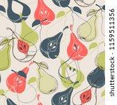 pear seamless pattern | Shutterstock .eps vector #1159511356