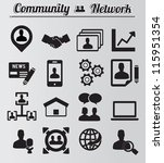 set of network and community...   Shutterstock .eps vector #115951354