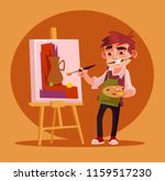 happy smiling little boy artist ... | Shutterstock .eps vector #1159517230