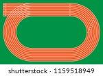 eight running tracks on green... | Shutterstock .eps vector #1159518949