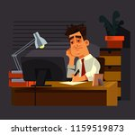 sad unhappy office worker man... | Shutterstock .eps vector #1159519873