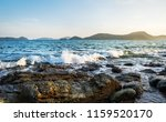 sea sunset or sunrise with... | Shutterstock . vector #1159520170