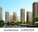 buildings made in 3d   Shutterstock . vector #115952164