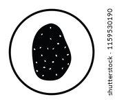 potato icon. thin circle design....   Shutterstock .eps vector #1159530190
