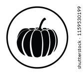 pumpkin icon. thin circle...   Shutterstock .eps vector #1159530199