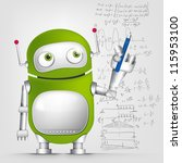 Cartoon Character Cute Robot...