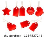 vector set of bright red price... | Shutterstock .eps vector #1159537246