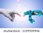 technology of robot or robotic... | Shutterstock . vector #1159539946