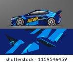 car wrap graphic racing... | Shutterstock .eps vector #1159546459