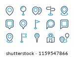 pointer line icon set. map pin...   Shutterstock .eps vector #1159547866