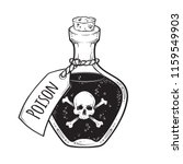 poison in bottle line art and... | Shutterstock .eps vector #1159549903