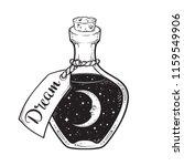 hand drawn dream in bottle or... | Shutterstock .eps vector #1159549906