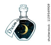 hand drawn dream in bottle or... | Shutterstock .eps vector #1159549909