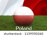 poland football team ball on... | Shutterstock . vector #1159550260
