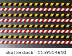 caution lines isolated. warning ... | Shutterstock .eps vector #1159554610