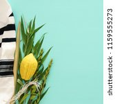 jewish festival of sukkot.... | Shutterstock . vector #1159555273