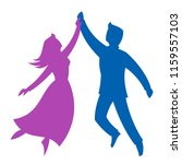 dancing couple on a white... | Shutterstock .eps vector #1159557103