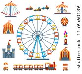 amusement park isolated... | Shutterstock .eps vector #1159560139
