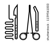 surgical instruments icon | Shutterstock .eps vector #1159561003