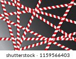 red and white lines of barrier... | Shutterstock .eps vector #1159566403