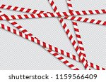 red and white lines of barrier... | Shutterstock .eps vector #1159566409